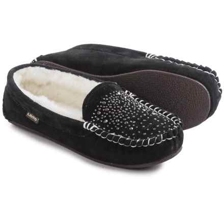 LAMO Footwear Twinkle Moccasins - Suede (For Women) in Black - Closeouts