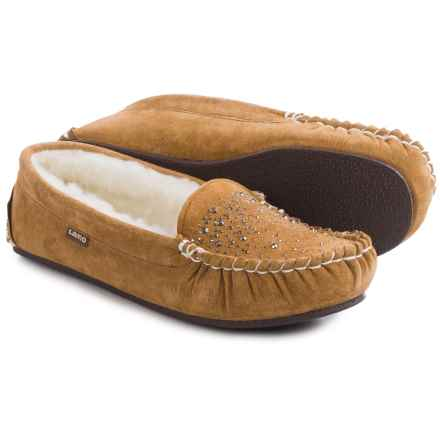 LAMO Footwear Twinkle Moccasins - Suede (For Women) in Chestnut - Closeouts