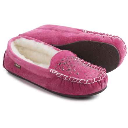LAMO Footwear Twinkle Moccasins - Suede (For Women) in Pink - Closeouts