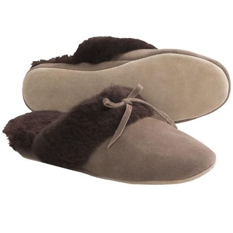 LAMO Footwear Victoria Slide Slippers - Sheepskin, Suede (For Women) in Mole
