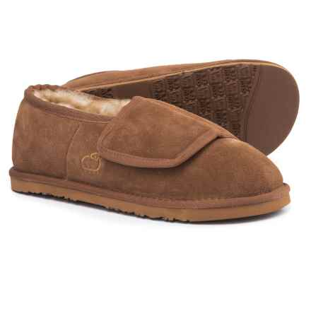 LAMO Footwear Wrap Bootie Slippers - Suede (For Men) in Chestnut - Closeouts
