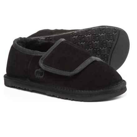LAMO Footwear Wrap Bootie Slippers - Suede (For Women) in Black - Closeouts