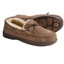 Lamo Mockaroo Slippers - Suede, Sheepskin Lining (For Men) in Chestnut - Closeouts