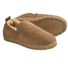 Lamo Romeo Slippers - Suede, Sheepskin-Lined (For Men) in Chestnut - Closeouts