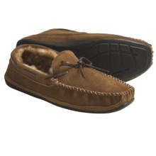 Lamo Santa Fe Moccasins - Suede, Sheepskin Lining (For Men) in Chestnut - Closeouts
