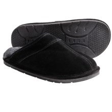 Lamo Scuff Slippers - Suede, Sheepskin-Lined (For Men) in Black - Closeouts