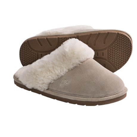 LAMO Sheepskin Scuff Slippers (For Women) in Sand