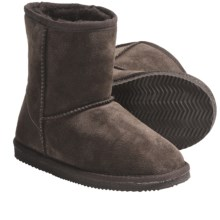 Lamo Suede Sheepskin Boots (For Youth, Boys and Girls) in Chocolate - Closeouts