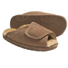 Lamo Wrap Slippers - Suede, Sheepskin-Lined (For Men) in Chestnut - Closeouts