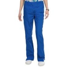 Landau Cargo Flare Scrub Pants (For Women) in Royal Blue - Closeouts