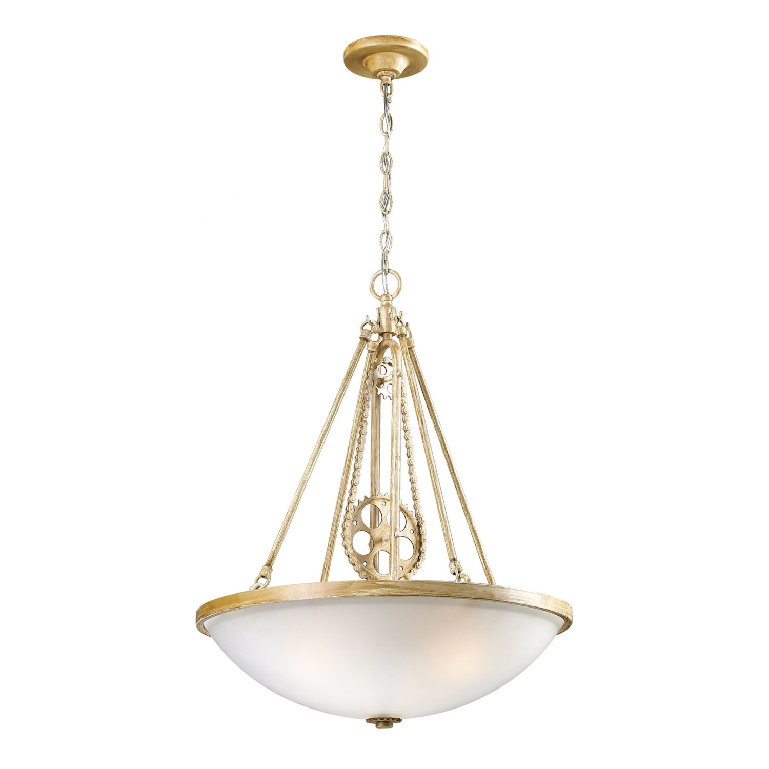 Pendant Lighting On Chain : Landmark lighting cog and chain light pendant in