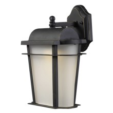 "Landmark Lighting Hampton Ridge Outdoor Wall Sconce Lantern - 5W LED, 10x14"" in Weathered Charcoal - Closeouts"