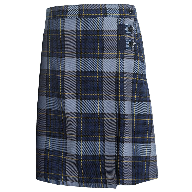 Lands End A Line Plaid Skirt Knee Length For Girls 3C