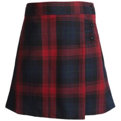 Lands' End A-Line Plaid Uniform Skirt - Knee Length (For Little Girls) in Classic Navy Plaid