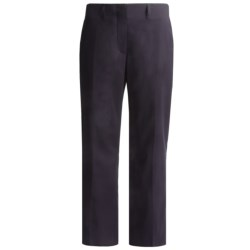 Lands' End Curvy No-Waist Pants - Stretch Gabardine (For Women) in True Navy