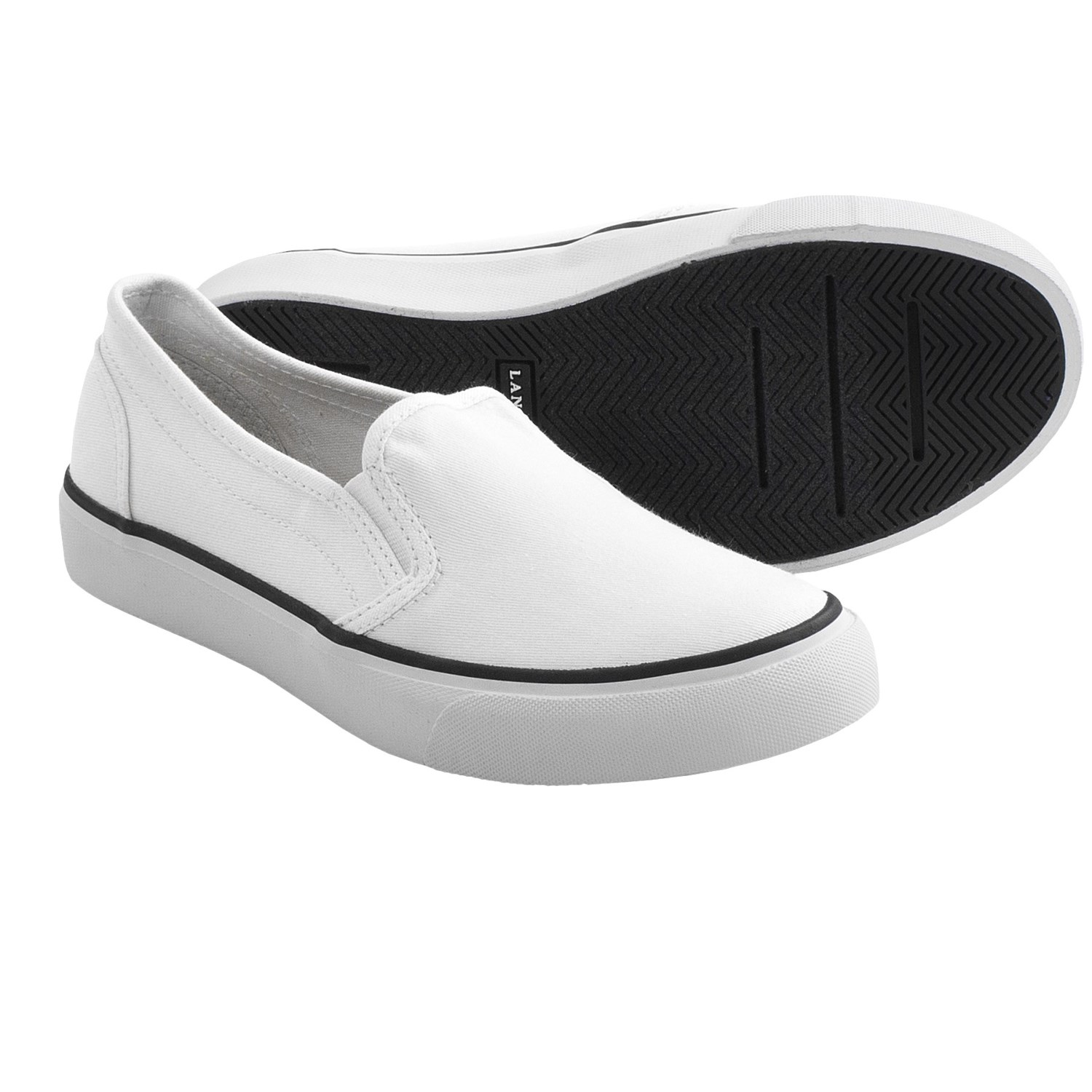 lands end mainstay slip on shoes canvas for and
