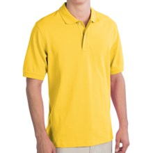 Lands' End Original Mesh Polo Shirt - Short Sleeve (For Men) in Atlas Yellow - Closeouts