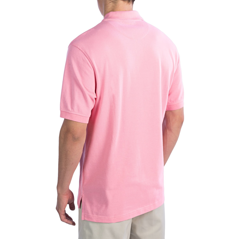 Men 39 s tailored fit short sleeve original mesh polo shirt for Lands end logo shirts
