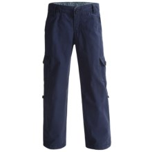 Lands' End Roll-Up Cargo Pants (For Girls) in Midnight Navy - Closeouts