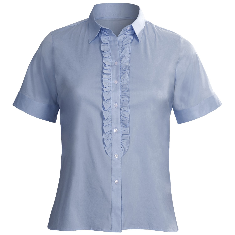 Plus Size Short Sleeve Blouses 22