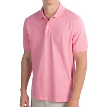 Lands' End Tailored Fit Original Mesh Polo Shirt - Short Sleeve (For Men) in Pink Breeze - Closeouts