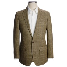 Lands' End Tailored Pattern Sport Coat - Trim Fit, Linen (For Men) in Brown Glen Plaid - Closeouts