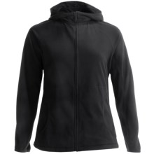 Lands' End ThermaCheck 100 Fleece Hoodie - Full Zip (For Plus Size Women) in Black - Closeouts