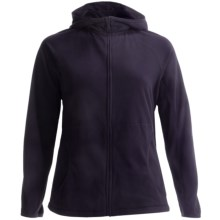 Lands' End ThermaCheck 100 Fleece Hoodie - Full Zip (For Plus Size Women) in True Navy - Closeouts