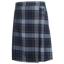 Lands' End A-Line Uniform Plaid Uniform Skirt - Knee Length (For Youth Girls) in Classic Navy Plaid - Closeouts