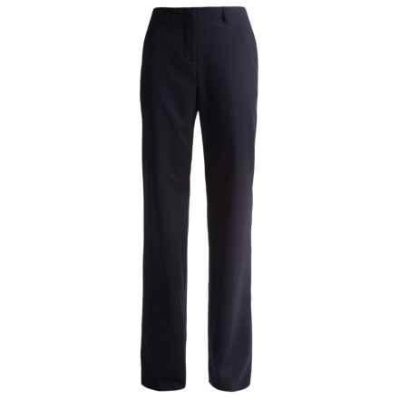 Lands' End Curvy No-Waist Stretch Gabardine Pants - Unhemmed (For Women) in True Navy - Closeouts