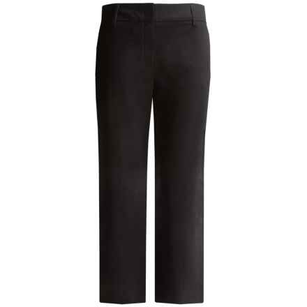Lands' End Original Commuter Trouser Pants - Straight Leg (For Plus Size Women) in Bla Black - Closeouts