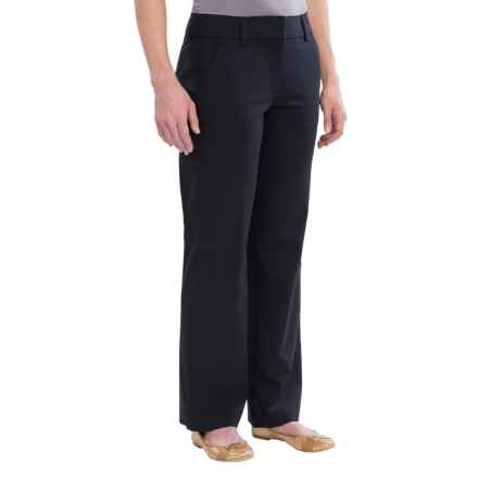 Lands' End Original Commuter Trouser Pants - Straight Leg (For Women) in True Navy - Closeouts