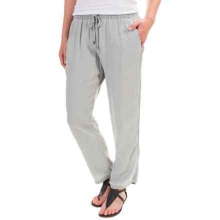 Lands' End Soft Crop Pants (For Women) in Light Gray - Closeouts