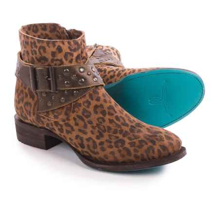 Lane Beltline Ankle Boots - Suede (For Women) in Cheetah Print - Closeouts