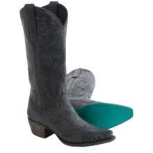 "Lane Boots Ashlee Lace Cowboy Boots - 13"", Snip Toe (For Women) in Charcoal Grey - Closeouts"