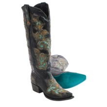 "Lane Boots Bliss Cowboy Boots - 16"", Snip Toe (For Women) in Black - Closeouts"