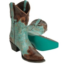 Lane Boots Dakota Cowboy Boots - Leather, Snip-Toe (For Women) in Turquoise - Closeouts