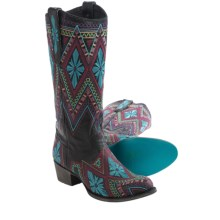 "Lane Boots Sunshine Cowboy Boots - 13"", Roper Toe (For Women) in Black - Closeouts"