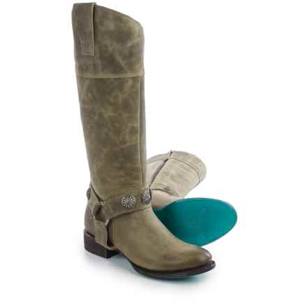 "Lane Boots Westminster 16"" Cowboy Boots - Leather, Round Toe (For Women) in Olive - Closeouts"