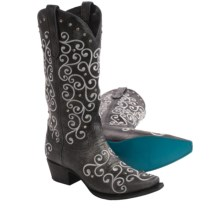 Lane Boots Willow Embroidered Cowboy Boots - Leather, Snip Toe (For Women) in Black - Closeouts