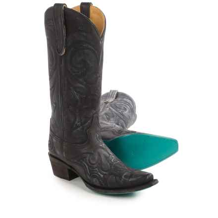 "Lane Lovesick Cowboy Boots - Leather, Snip Toe, 13"" (For Women) in Blue - Closeouts"