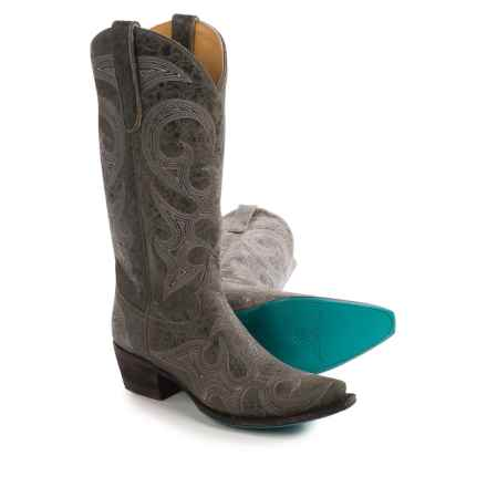 "Lane Lovesick Cowboy Boots - Leather, Snip Toe, 13"" (For Women) in Grey - Closeouts"