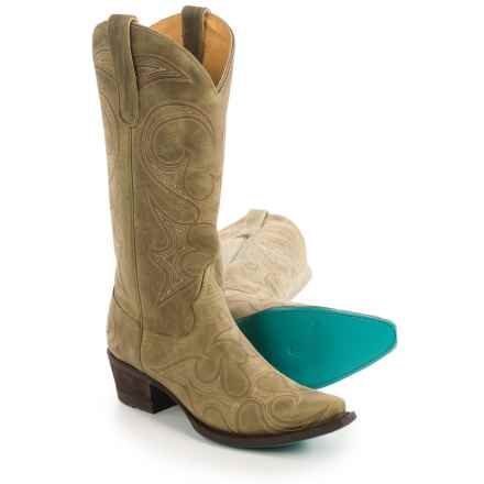 "Lane Lovesick Cowboy Boots - Leather, Snip Toe, 13"" (For Women) in Olive - Closeouts"