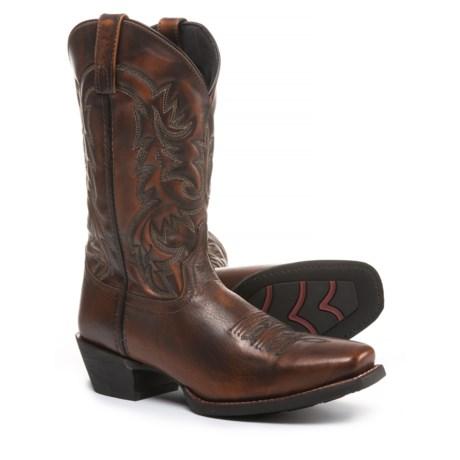 "Laredo 12"" Emporia Cowboy Boots - Leather, Square Toe (For Men) in Antique Tan"