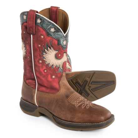 Laredo American Western Boots - Leather (For Men) in Brown/Red - Closeouts