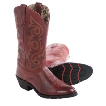 Laredo Frankie Cowboy Boots - Leather, R-Toe (For Women) in Red Burnished - Closeouts