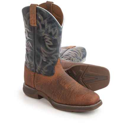 "Laredo Great Bend Cowboy Boots - 11"", Square Toe (For Men) in Navy - Closeouts"