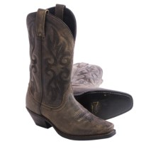 "Laredo Maricopa Cowboy Boots - 11"", Square Toe (For Women) in Black/Tan - Closeouts"