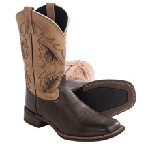 Laredo Razor Cowboy Boots - Leather, Square Toe (For Men) in Chocolate/Tan - Closeouts