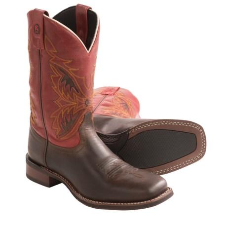 s laredo razor cowboy boots leather square toe